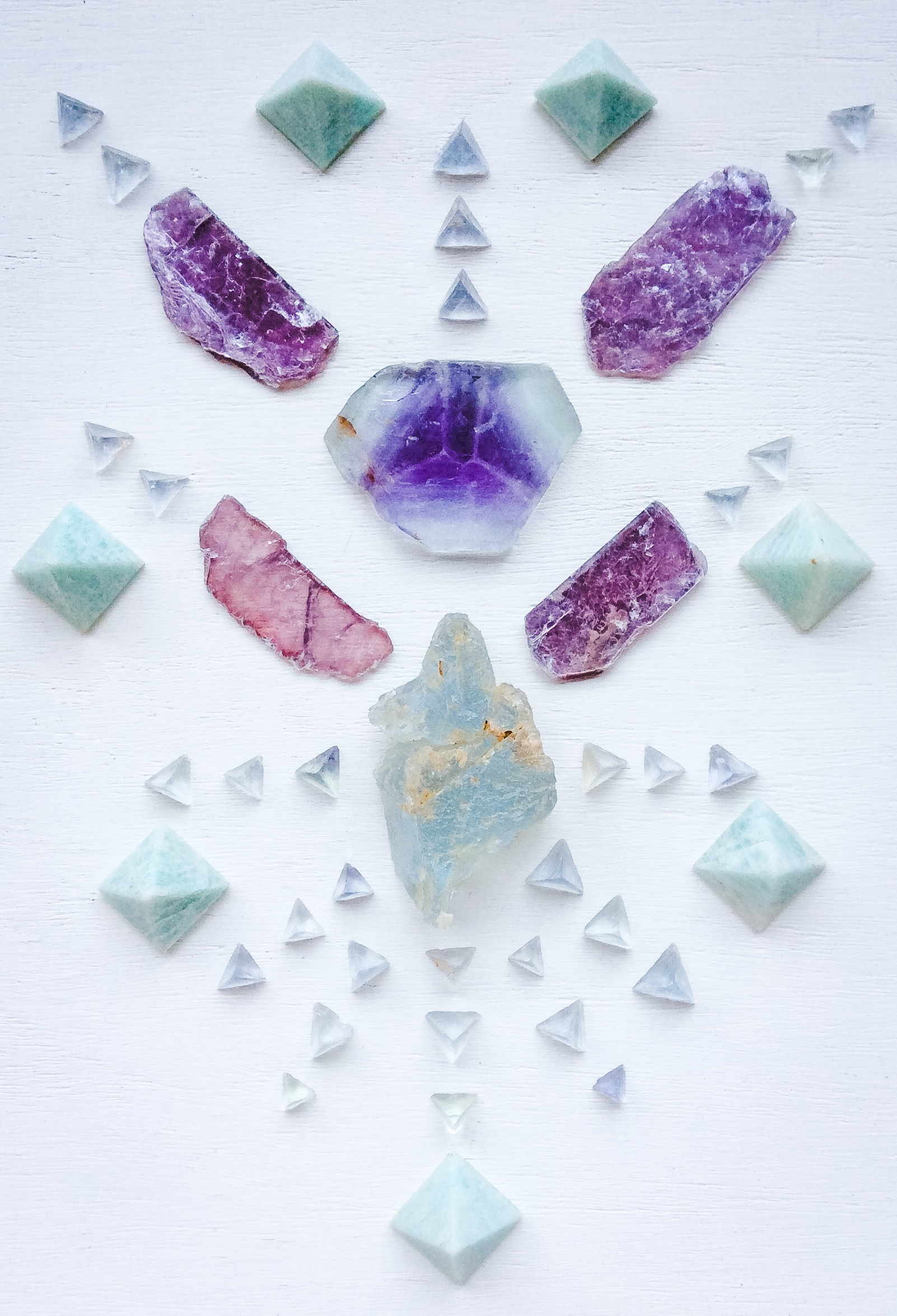 Fluorite, Lepidolite and Amazonite