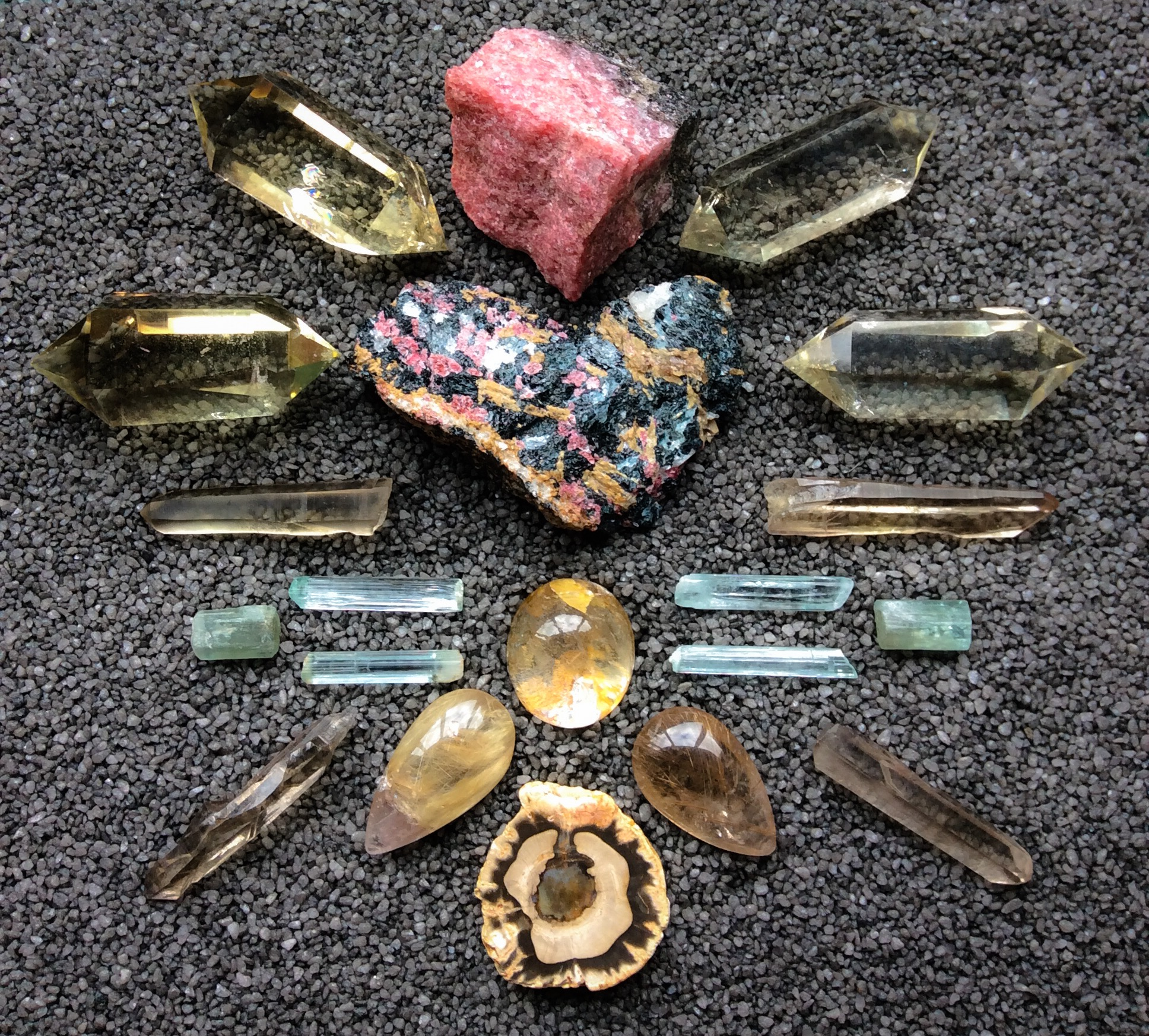 A crystal grid for healing the past