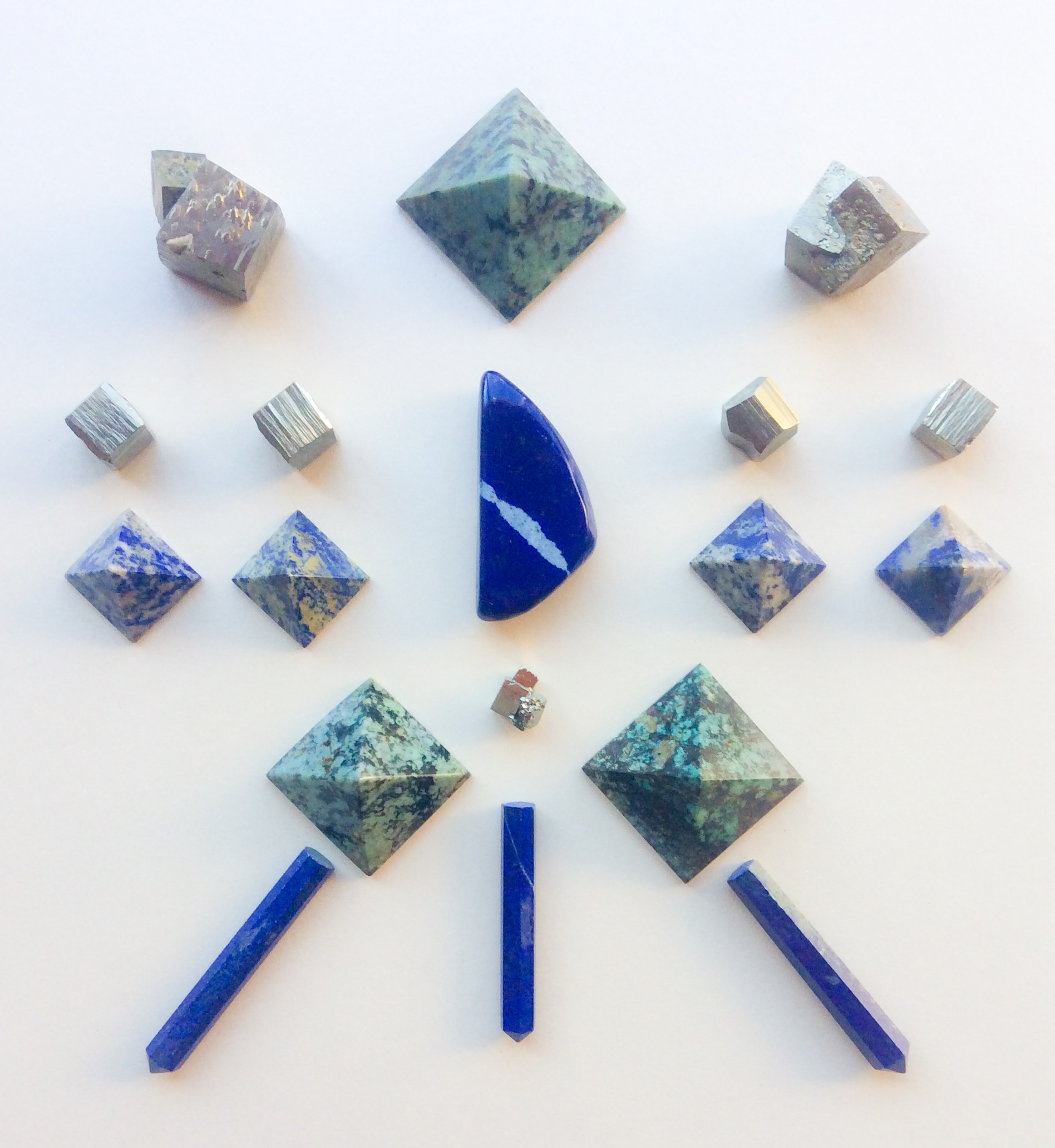 Lapis Lazuli, Turquoise and Pyrite