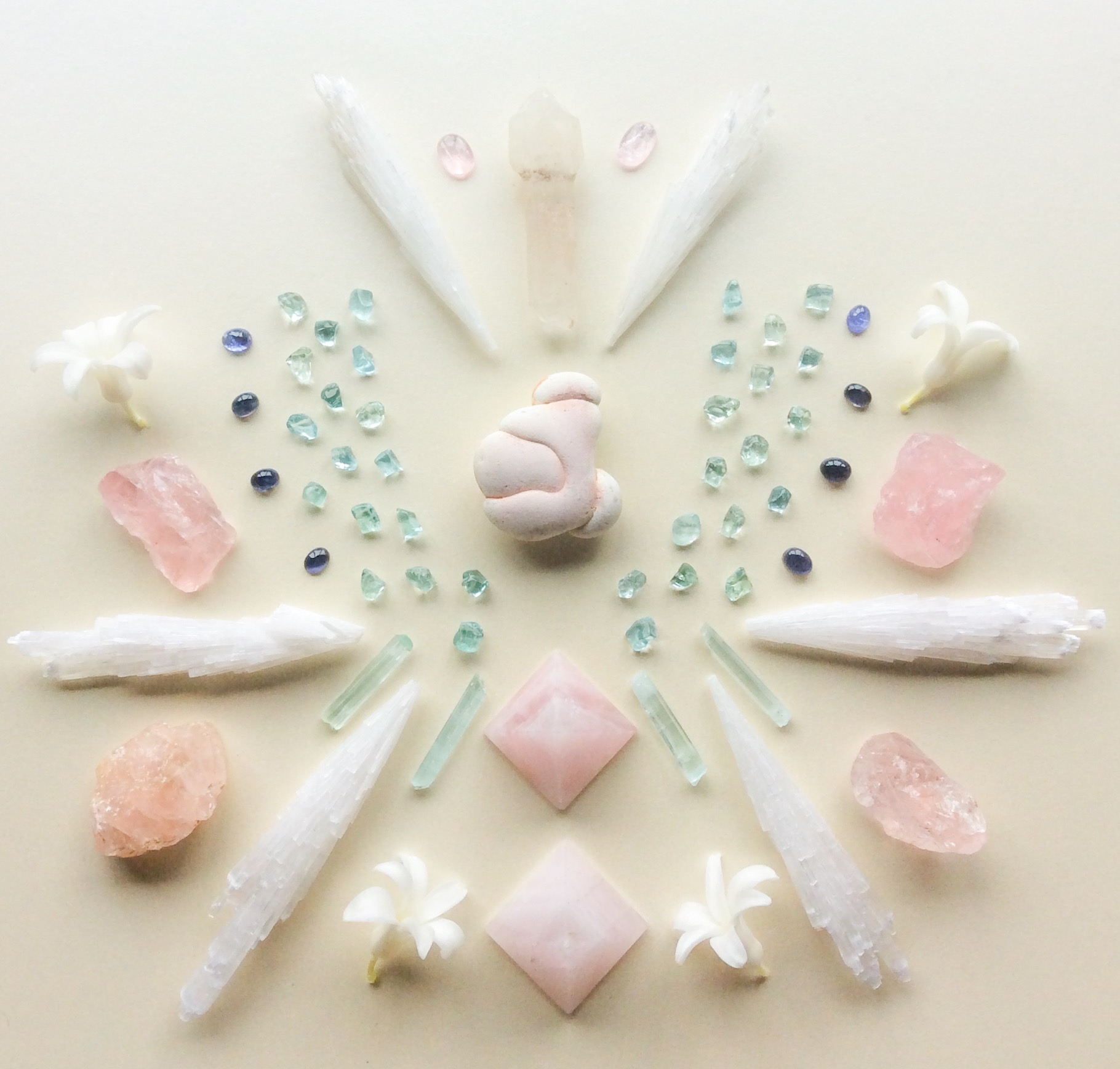 Menalite Stone, Aquamarine, Iolite, Tanzanite, Scepter Quartz, Scolecite, Rose Quartz, Morganite and Hyacinth