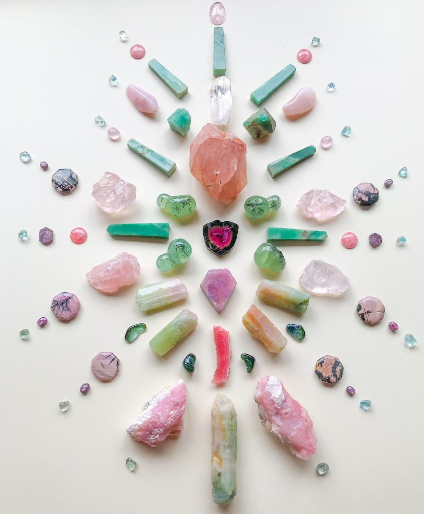 Watermelon Tourmaline, Morganite, Ruby, Rodochrosite, Phrenite, Bi-Colour Tourmaline, Verdelite, Rodhonite, Star Ruby, Aquamarine, Pink Andean Opal, Chrysoprase, Emerald