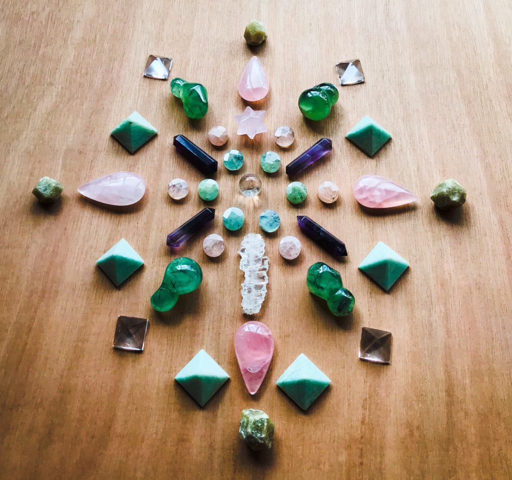 Quartz, Beryl, Morganite, Rose Quartz, Faden Quartz, Amethyst, Phrenite with Epidote, Amazonite and Grossular