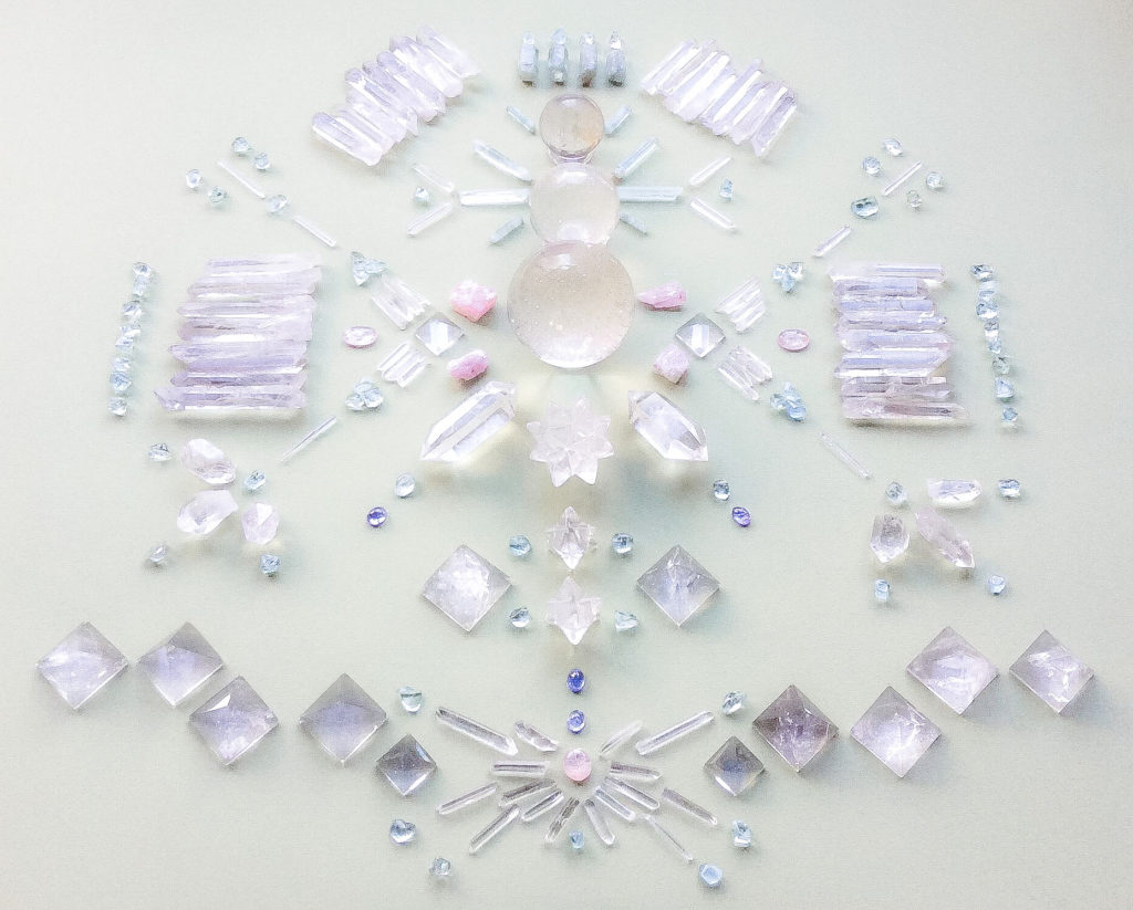 Morganite, Quartz, Tanzanite and Aquamarine